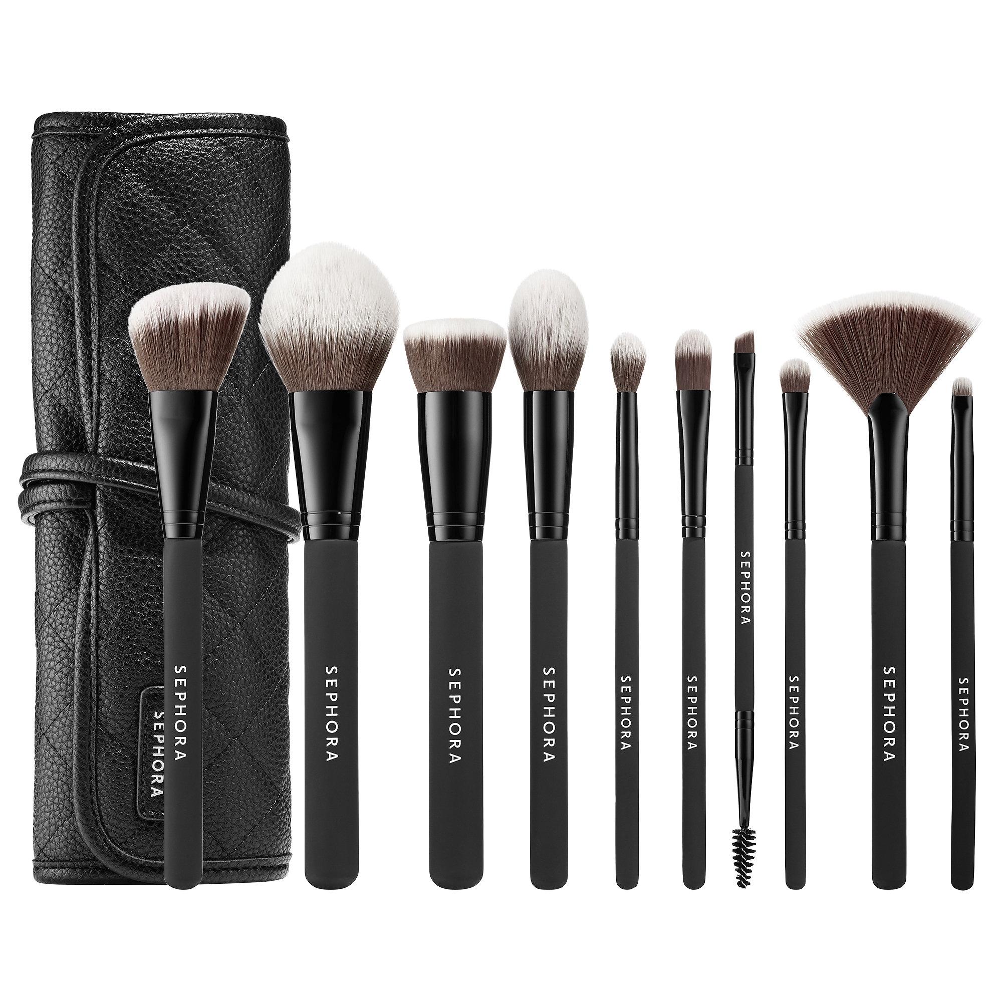 Sephora - Ready To Roll Brush Set