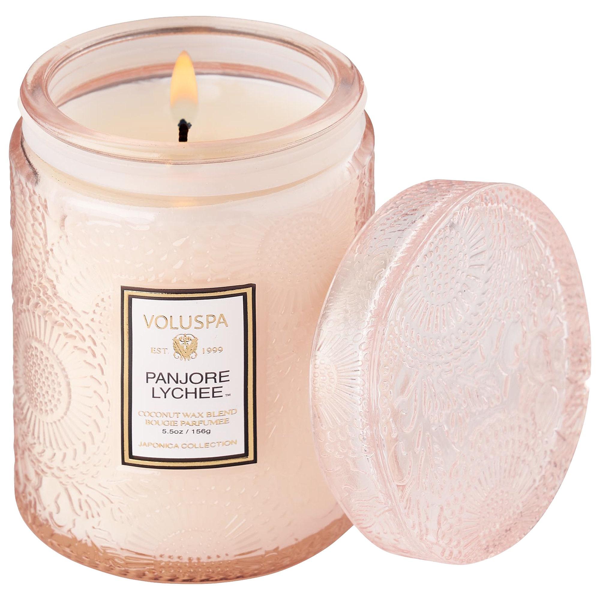 VOLUSPA - Panjore Lychee Glass Jar Candle