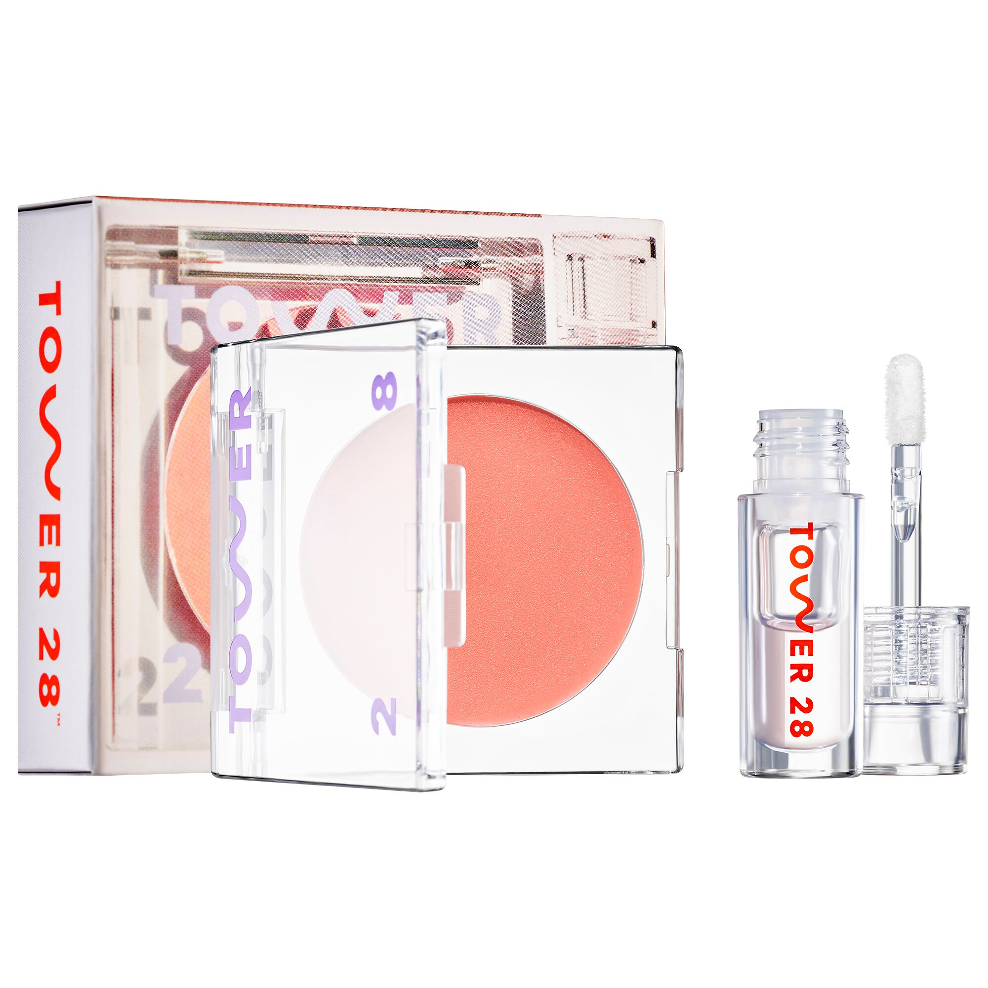 Tower28 - Magic Hour and Chill Lip + Cheek Balm and Gloss Duo Set