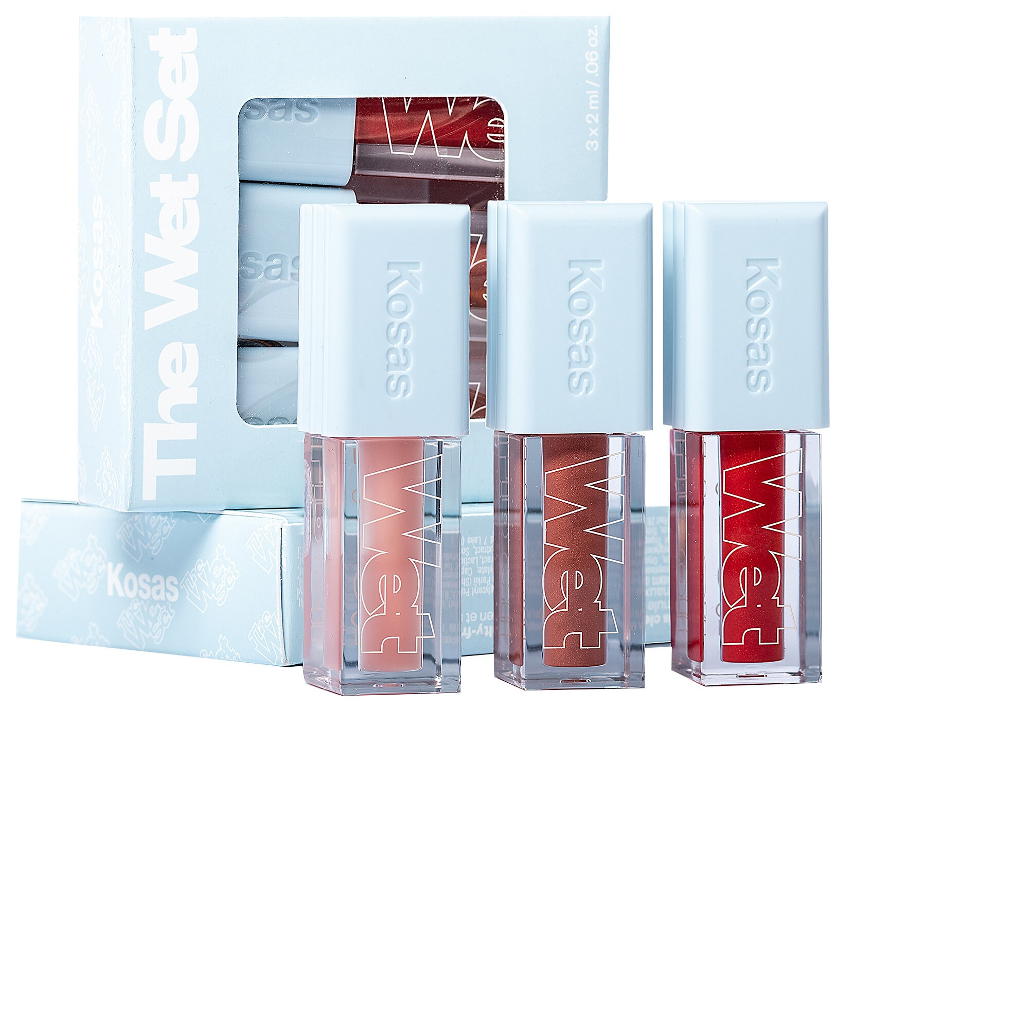 Kosas - Mini Wet Set Clean Lip Oil Trio