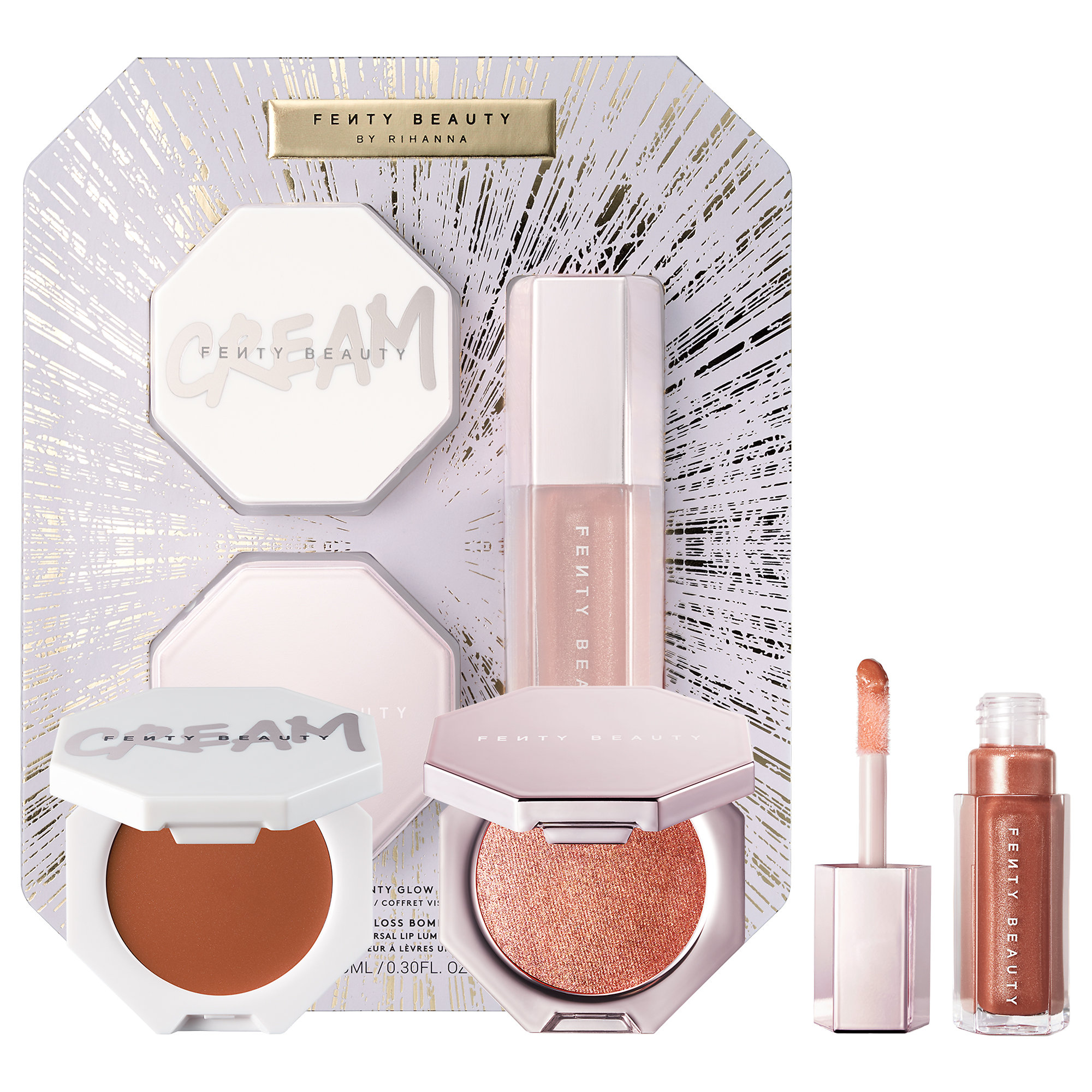 Fenty - Fenty Glow Trio Face Lip & Body Set