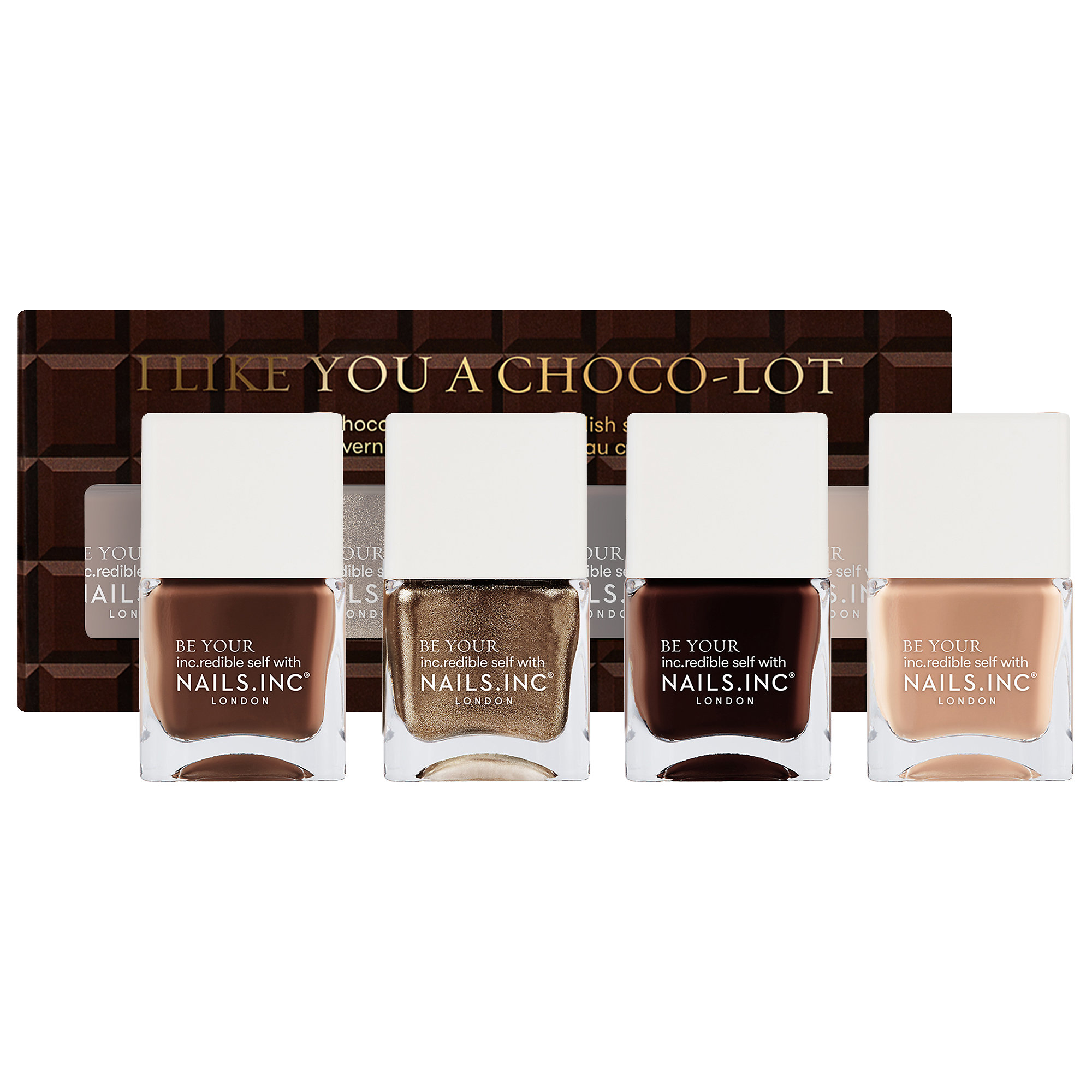 Nails Inc. - I Like You a Choco-Lot Nail Polish Quad Set