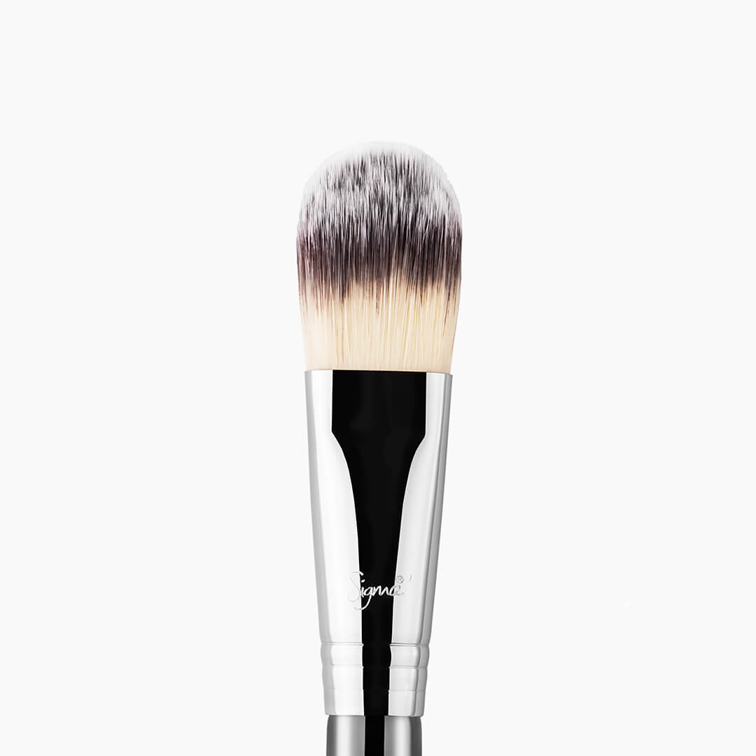 sigmabeauty - F60 Foundation Brush - Black/Chrome