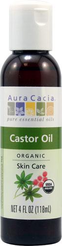 Aura Cacia - Organic Skin Care Castor Oil -- 4 fl oz
